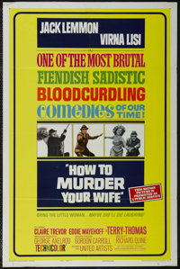 """How to Murder Your Wife (United Artists, 1965). One Sheet (27"""" X 41"""") Style B. Comedy. Starring Jack Lemmon, V..."""