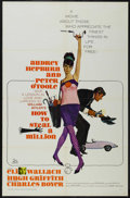 "Movie Posters:Crime, How to Steal a Million (20th Century Fox, 1966). One Sheet (27"" X41""). Romantic Crime Comedy. Starring Audrey Hepburn, Pete..."