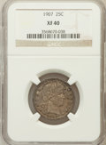 Barber Quarters: , 1907 25C XF40 NGC. NGC Census: (4/307). PCGS Population (2/423).Mintage: 7,192,575. Numismedia Wsl. Price for problem free...