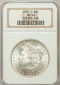 Morgan Dollars: , 1902-O $1 MS64 NGC. NGC Census: (27221/6876). PCGS Population(19835/4637). Mintage: 8,636,000. Numismedia Wsl. Price for p...