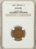 Indian Cents: , 1864 1C L On Ribbon XF45 NGC. NGC Census: (83/532). PCGS Population(155/492). Mintage: 39,233,712. Numismedia Wsl. Price f...