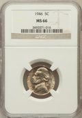Jefferson Nickels: , 1946 5C MS66 NGC. NGC Census: (101/8). PCGS Population (77/0).Mintage: 161,116,000. Numismedia Wsl. Price for problem free...