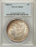 Morgan Dollars: , 1884-O $1 MS63 PCGS. PCGS Population (70977/78116). NGC Census:(66869/97634). Mintage: 9,730,000. Numismedia Wsl. Price fo...