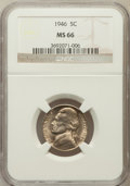 Jefferson Nickels: , 1946 5C MS66 NGC. NGC Census: (98/8). PCGS Population (74/0).Mintage: 161,116,000. Numismedia Wsl. Price for problem free ...