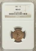Indian Cents: , 1861 1C MS63 NGC. NGC Census: (128/473). PCGS Population (222/650).Mintage: 10,100,000. Numismedia Wsl. Price for problem ...
