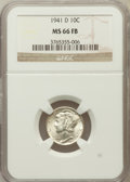 Mercury Dimes: , 1941-D 10C MS66 Full Bands NGC. NGC Census: (1001/448). PCGSPopulation (2037/574). Mintage: 46,634,000. Numismedia Wsl. Pr...