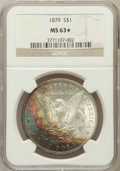 Morgan Dollars, 1879 $1 MS63 ★ NGC. NGC Census: (3231/4523). PCGS Population(3999/4485). Mintage: 14,807,...