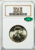 Franklin Half Dollars: , 1948-D 50C MS65 Full Bell Lines NGC. CAC. NGC Census: (606/61).PCGS Population (1595/140). Numismedia Wsl. Price for prob...