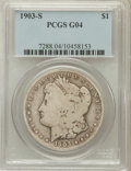 Morgan Dollars: , 1903-S $1 Good 4 PCGS. PCGS Population (62/2632). NGC Census:(65/1837). Mintage: 1,241,000. Numismedia Wsl. Price for prob...