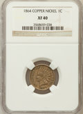 Indian Cents: , 1864 1C Copper-Nickel XF40 NGC. NGC Census: (11/1171). PCGSPopulation (22/1618). Mintage: 13,740,000. Numismedia Wsl. Pric...