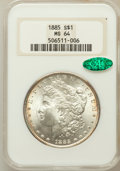 Morgan Dollars: , 1885 $1 MS64 NGC. CAC. NGC Census: (29885/11777). PCGS Population(24074/9367). Mintage: 17,787,768. Numismedia Wsl. Price ...