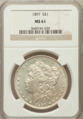 Morgan Dollars: , 1897 $1 MS61 NGC. NGC Census: (224/12904). PCGS Population(175/12936). Mintage: 2,822,731. Numismedia Wsl. Price for probl...