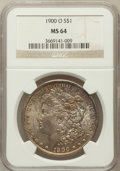 Morgan Dollars: , 1900-O $1 MS64 NGC. NGC Census: (18234/7552). PCGS Population(16231/6766). Mintage: 12,590,000. Numismedia Wsl. Price for ...