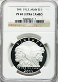 Modern Issues, 2011-P $1 U.S. Army PR70 Ultra Cameo NGC. NGC Census: (347). PCGSPopulation (182). Numismedia Wsl. Price for problem free...