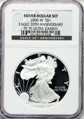 Modern Bullion Coins, 2006-W $1 Eagle 20th Ann. PR70 Ultra Cameo NGC. NGC Census:(13014). PCGS Population (1356). Numismedia Wsl. Price for pro...