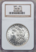Morgan Dollars: , 1885 $1 MS65 NGC. NGC Census: (9878/1897). PCGS Population(7973/1391). Mintage: 17,787,768. Numismedia Wsl. Price for prob...