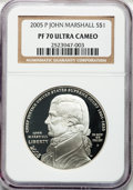 Modern Issues, 2005-P $1 Marshall PR70 Ultra Cameo NGC. NGC Census: (872). PCGSPopulation (219). Numismedia Wsl. Price for problem free ...