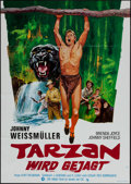 """Movie Posters:Adventure, Tarzan and the Huntress & Others Lot (RKO, R-1973). German A1(22.5"""" X 33"""") Spanish Language One Sheets (2) (27"""" X 41""""), One...(Total: 6 Items)"""