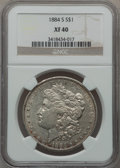 Morgan Dollars: , 1884-S $1 XF40 NGC. NGC Census: (202/6059). PCGS Population(307/5554). Mintage: 3,200,000. Numismedia Wsl. Price for probl...