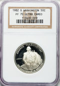 Modern Issues: , 1982-S S50C Washington Silver Half Dollar PR70 Ultra Cameo NGC. NGCCensus: (286). PCGS Popula...