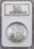Morgan Dollars: , 1880 $1 MS64 NGC. NGC Census: (4462/725). PCGS Population(3788/1055). Mintage: 12,601,355. Numismedia Wsl. Price forprobl...