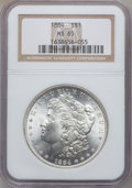 Morgan Dollars: , 1884 $1 MS65 NGC. NGC Census: (1882/282). PCGS Population(2040/449). Mintage: 14,070,875. Numismedia Wsl. Price forproble...