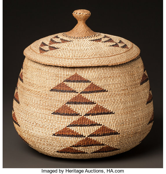 Phenomenal A Yurok Twined Lidded Basket C 1900 Other Lot 54074 Download Free Architecture Designs Embacsunscenecom