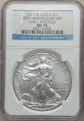 Modern Bullion Coins, 2011-W $1 Silver Eagle, 25th Anniversary Set, Early Releases MS70NGC. NGC Census: (17833). PCGS Population (7888)....