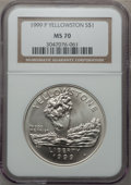 Modern Issues: , 1999-P $1 Yellowstone Silver Dollar MS70 NGC. NGC Census: (432).PCGS Population (240). Numismedia Wsl. Price for problem ...