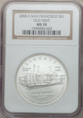 Modern Issues, 2006-S $1 SF Old Mint MS70 NGC. NGC Census: (2734). PCGS Population(582). Numismedia Wsl. Price for problem free NGC/PCGS...