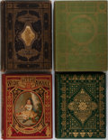 Books:Literature Pre-1900, [Illustrated Literature]. Group of Four Illustrated Books inDecorative 19th Century Bindings. Various editions and publishe...(Total: 4 Items)