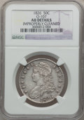 Bust Half Dollars: , 1826 50C -- Improperly Cleaned -- NGC Details. O-107. NGC Census:(75/1086). PCGS Population (169/1008). Mintage: 4,000,00...