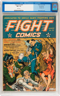 Fight Comics #20 Pennsylvania pedigree (Fiction House, 1942) CGC NM- 9.2 White pages