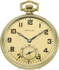 Timepieces:Pocket (post 1900), Dudley Watch Co. Model 2 Masonic Pocket Watch, No. 4418, circa1930. ...