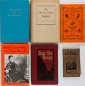 Books:Americana & American History, [California]. Group of Six Related Books. Various editions andpublishers, 1905-1975. Publisher's bindings. All in good or b...(Total: 6 Items)