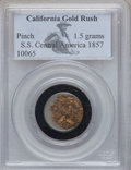 Nuggets, 1857 S.S. Central America, California Gold Rush Pinch PCGS. 1.5 grams....