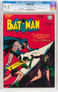 Golden Age (1938-1955):Superhero, Batman #42 (DC, 1947) CGC NM- 9.2 Cream to off-white pages....