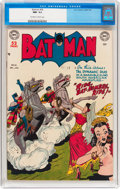 Golden Age (1938-1955):Superhero, Batman #56 (DC, 1949) CGC NM- 9.2 Off-white to white pages....