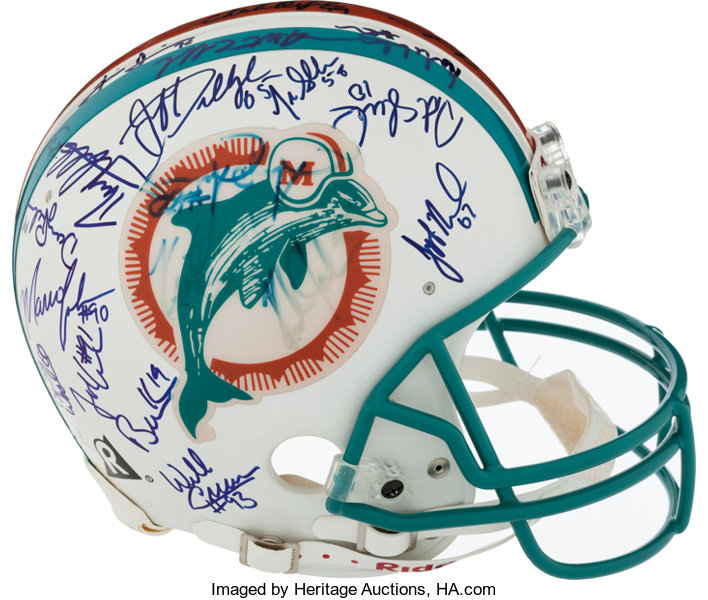41255967208 Football Collectibles:Helmets, 1994 Miami Dolphins Team Signed Full Size Authentic  Helmet.