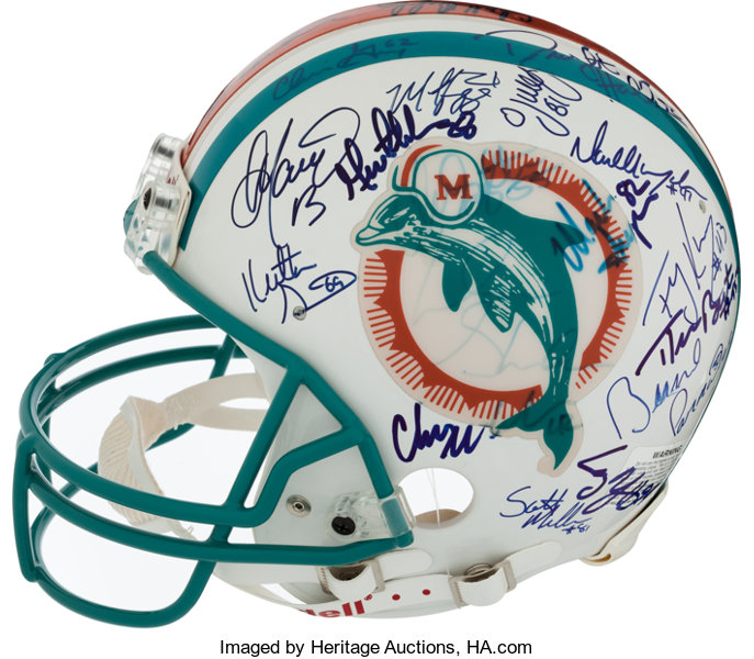57a65d41b0b 1994 Miami Dolphins Team Signed Full Size Authentic Helmet.... | Lot #40153  | Heritage Auctions