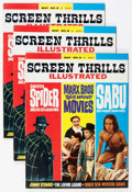 Magazines:Vintage, Screen Thrills Illustrated #8 Group (Warren, 1964) Condition: Average VF.... (Total: 4 Comic Books)