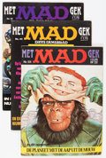 Magazines:Mad, Mad Magazine European Editions Group (EC, 1970s) Condition: AverageVG/FN.... (Total: 14 Comic Books)