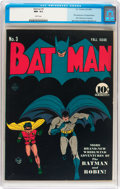 Golden Age (1938-1955):Superhero, Batman #3 (DC, 1940) CGC NM- 9.2 White pages....