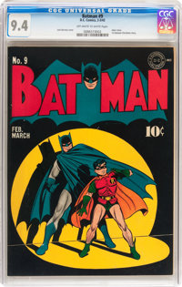 Batman #9 (DC, 1942) CGC NM 9.4 Off-white to white pages