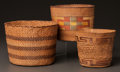 American Indian Art:Baskets, THREE NORTHWEST COAST TWINED BASKETS. c. 1890... (Total: 3 Items)