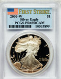 Modern Bullion Coins, 2006-W $1 One-Ounce Silver American Eagle, First Strike PR69 DeepCameo PCGS. PCGS Population (7010/702). ..