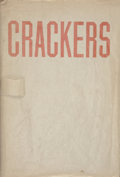 Prints, ED RUSCHA (American, b. 1937). Crackers, Heavy Industry Publications, Hollywood, 1969. Octavo wrappers with dust jacket...