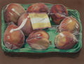 Post-War & Contemporary:Contemporary, JANET FISH (American, b. 1938). Box of Peaches, 1972. Pastelon paper. 19-1/2 x 25-3/4 inches (49.5 x 65.4 cm). Signed a...