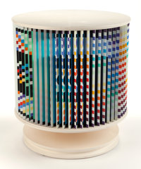 YAACOV AGAM (Israeli, b. 1928) Agamorama (Accelerated Rhythme) Polychromed wood and laminate with ro