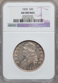 Bust Half Dollars, 1828 50C Curl Base 2, No Knob -- Scratches -- NGC Details. AU. NGCCensus: (61/587). PCGS Population (54/381). Mintage:...